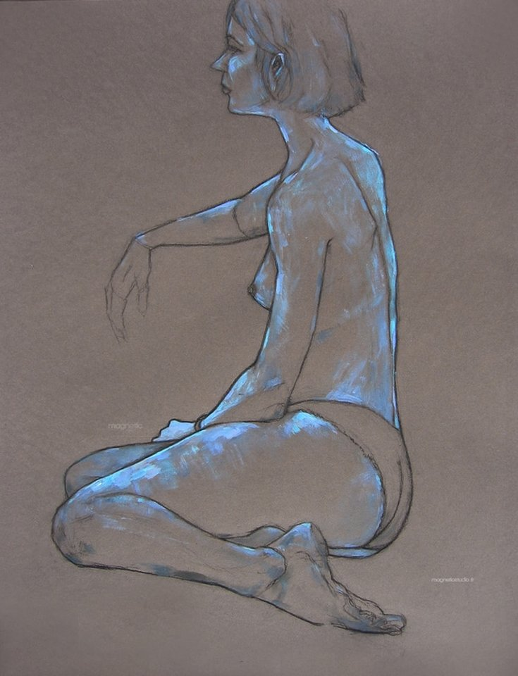 naiad, naiade, life drawing, figure drawing, painting, sketch, croquis, modele vivant, modeleo vivo, dessin, peinture, femme
